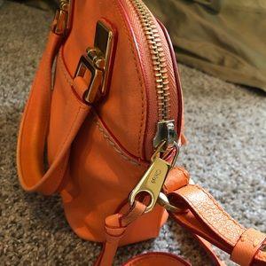Authentic Chloe purse orange/gold - used condition
